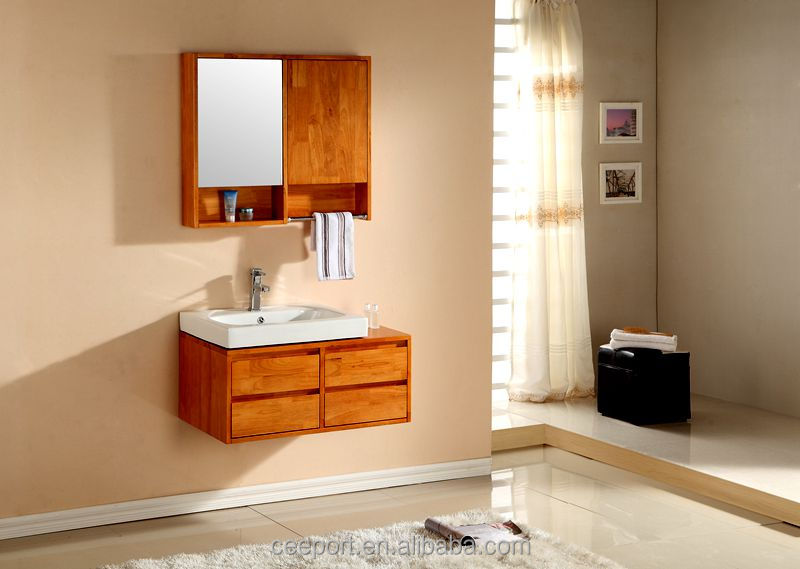chinese double door mirror cabinet bathroom vanity with four drawers