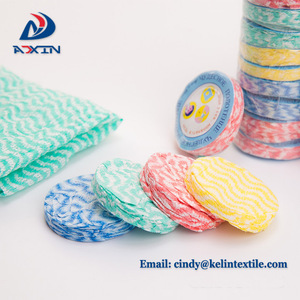 CMYK insert printing paper round shaped compressed towel with logo