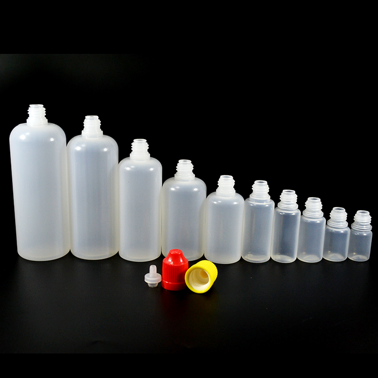 e liquid 30ml 60ml 100ml 120ml PE plastic dropper bottle with cap