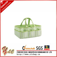 Trend Portable Baby Storage Organizer Caddy Tote Bag In Green For Mommy Necessities China Factory