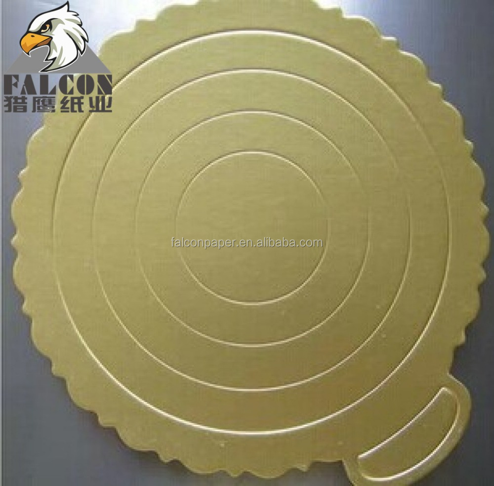 Grey back cake boards metalized laminated gold foil board