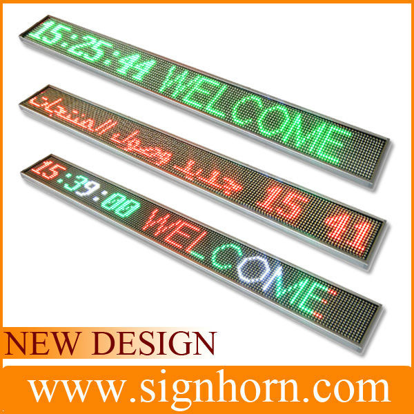 Most beautiful red, blue, green, white color mini led message center