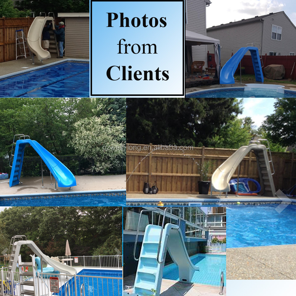 how to hook up water supply to pool slide