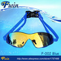 Top sale wide vision anti fog waterproof colourfull mirrored lens adult swimming goggles Free shippmment 1pairs