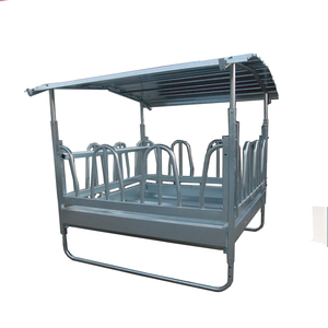 Customized square Horse cattle Eating Hay Feeder with roof