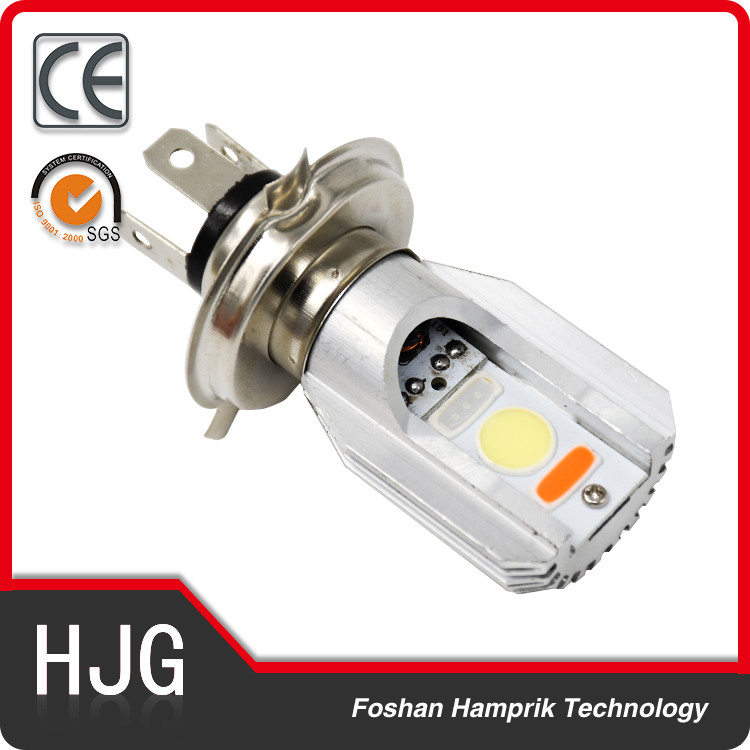 8W motorcycle led running lights motor parts COB H4 headlight replacement 12v facory supply best price