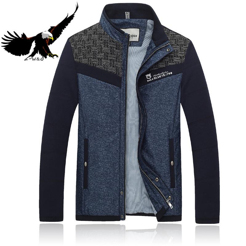 Men-jacket-winter-Coats-slim-Good-Quality-Woolen-Patchwork