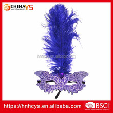 Wholesale feather colored drawing Beautiful Design Feather Mask