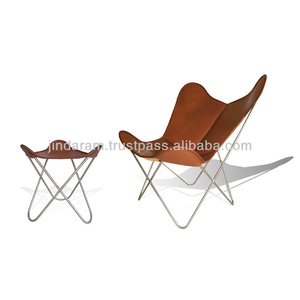 best quality vintage butterfly chair with leather stool
