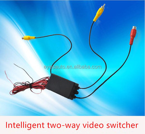 video switcher Combiner camera switch box parking reversing priority 2ch automatically switch 2 video input DVD/parking camera
