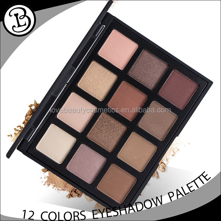 New arrive 12 color hot selling cosmetics matte oem eyeshadow