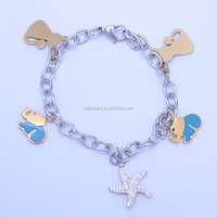 unique animal shape accessories fashion bracelet stainless steel circle