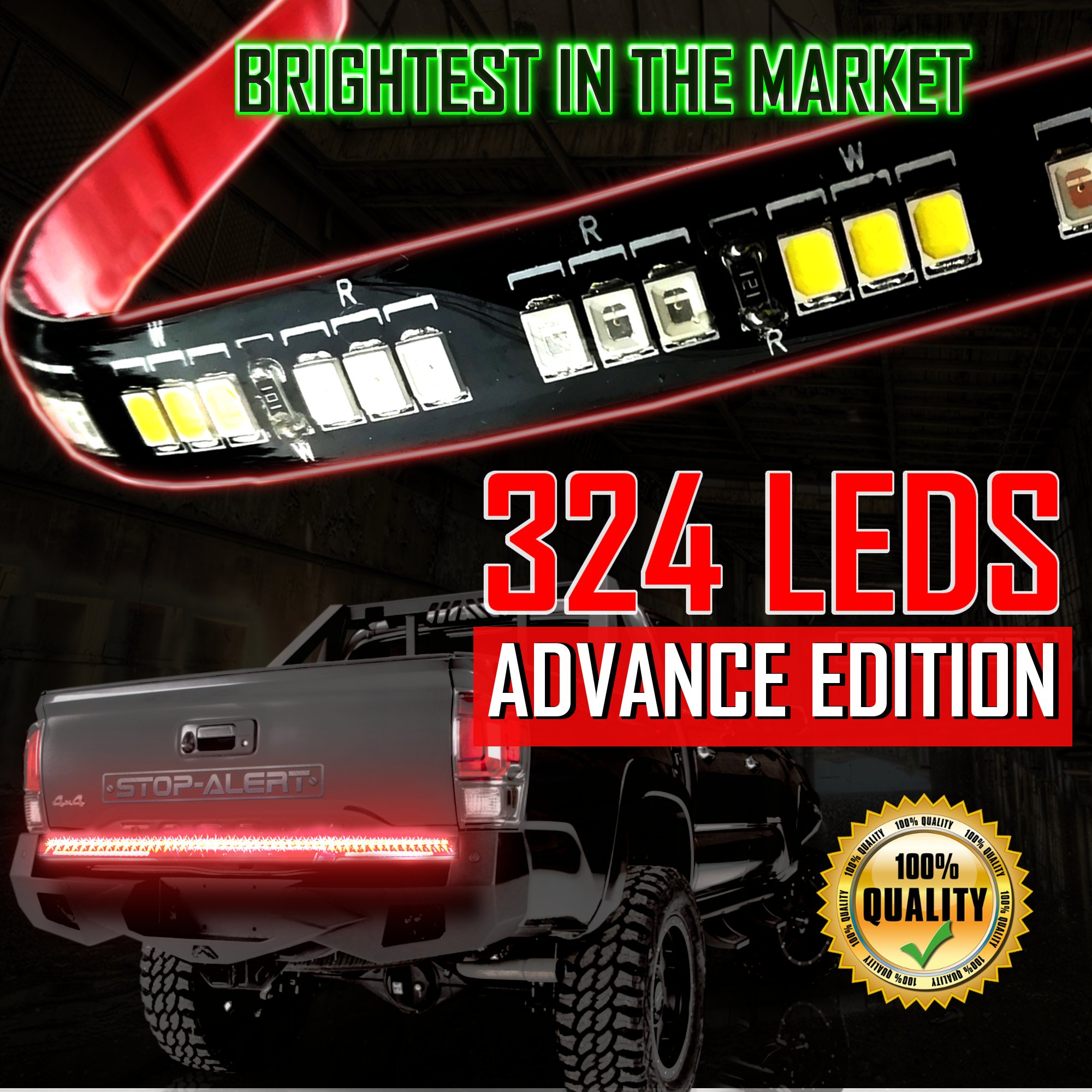 Get Quotations  C B Stop Alert Most Powerful Multi Function  Truck Tailgate Light Bar Strip