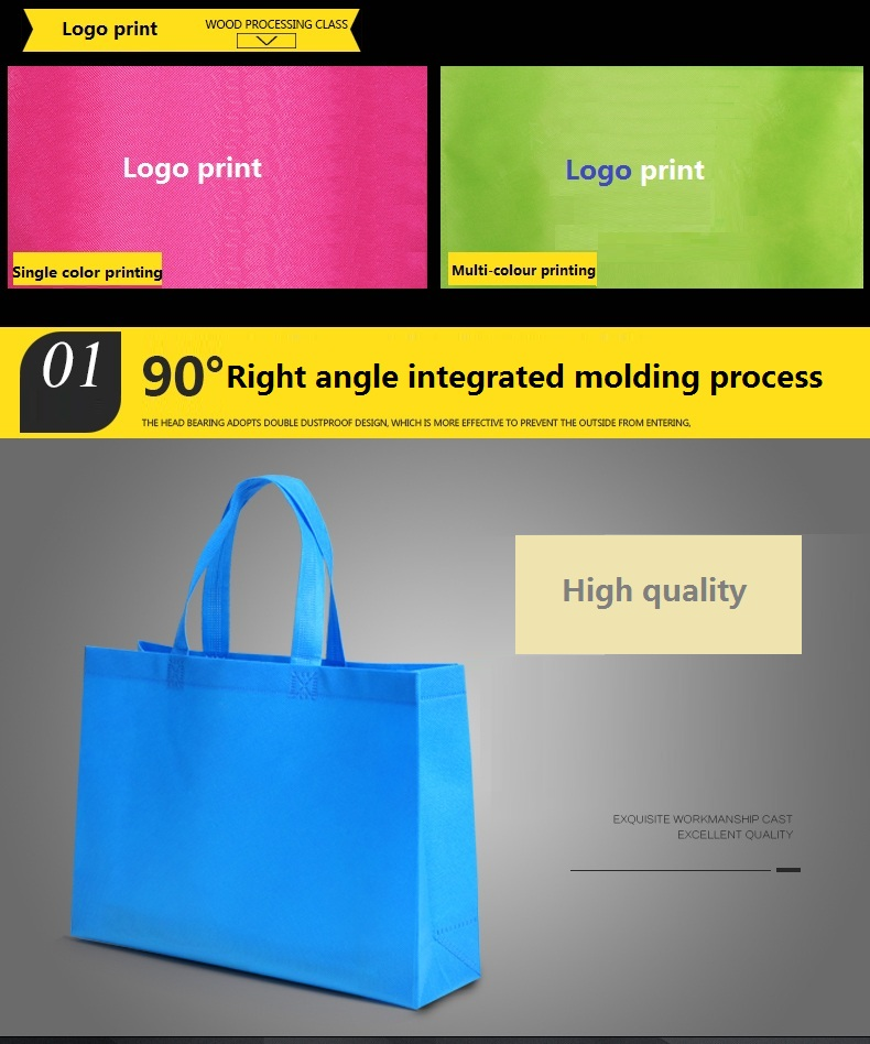 Drum Linkage Degradable Continuous PP Non-woven Supermarket  Point-break Shopping Bag