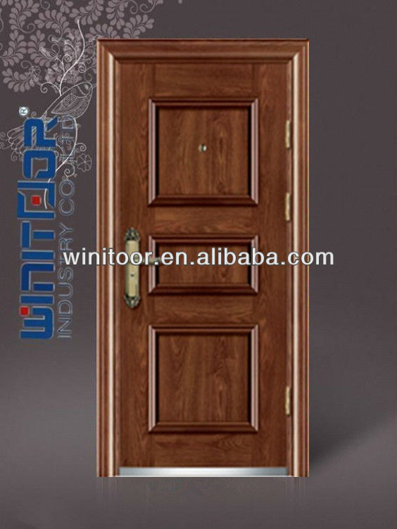 American Steel Door with Knock-down Frame(WNT-ST341)