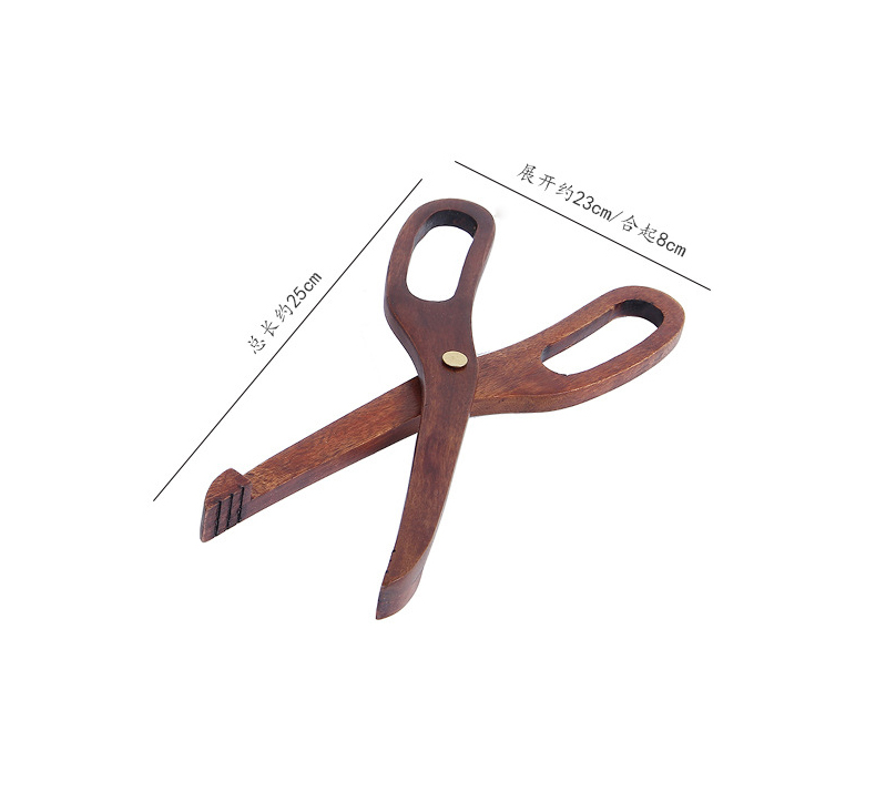 Wooden Food Clip Kitchen Tools Hot Grill Food Tongs Custom Made Dessert Pastry Bread Clip