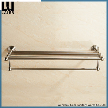 Bathroom Corner Storage Towel Shelf Stainless Steel Brushed Nickel ...