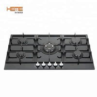8mm tempered glass panel built in 5 burner gas cooktop