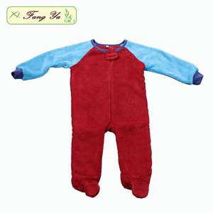Wholesale Coral Fleece Long Sleeve Baby Clothes Romper Baby Onsie