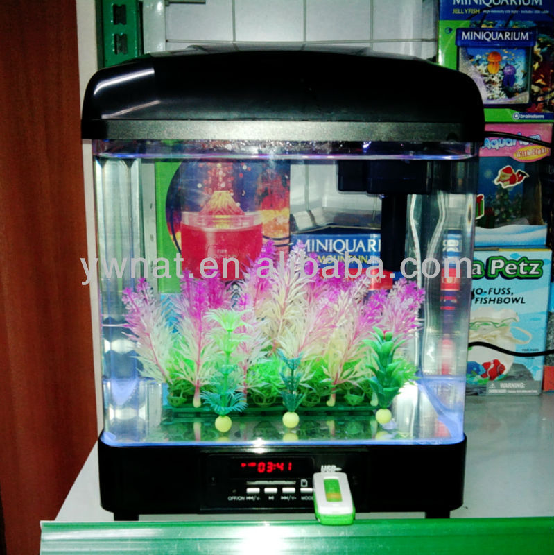 Small Tabletop Unique Musical Fish Tank For Sale