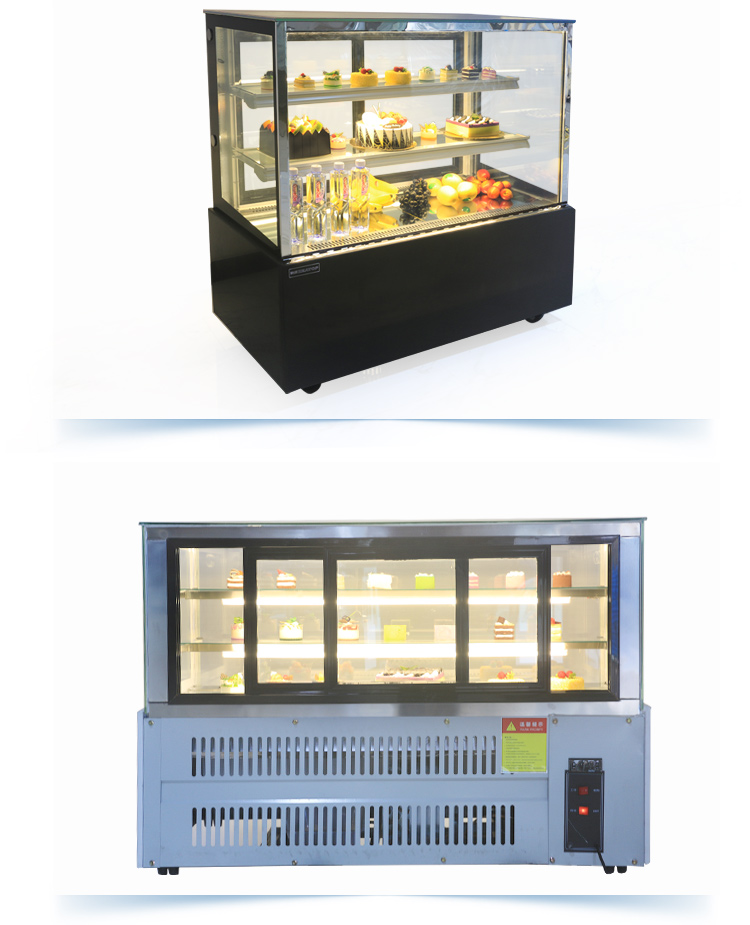 Glass Cake Display Cabinet /Cake Cabinet Keep Freshness/ Frozen Function Chocolate Display Cooler