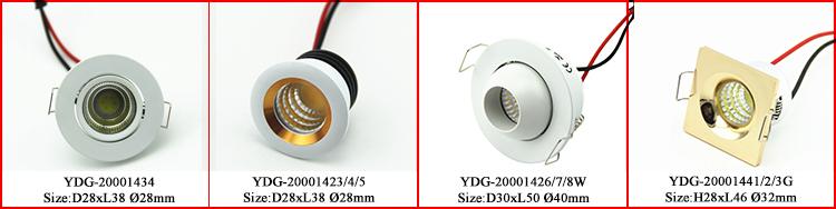 도매 가격 조정 작은 Recessed 직경 50mm 미니 LED 천장 스포트 라이트