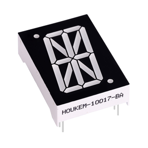 "25.4mm 24 pins anode red 1"" 16 segment led display"
