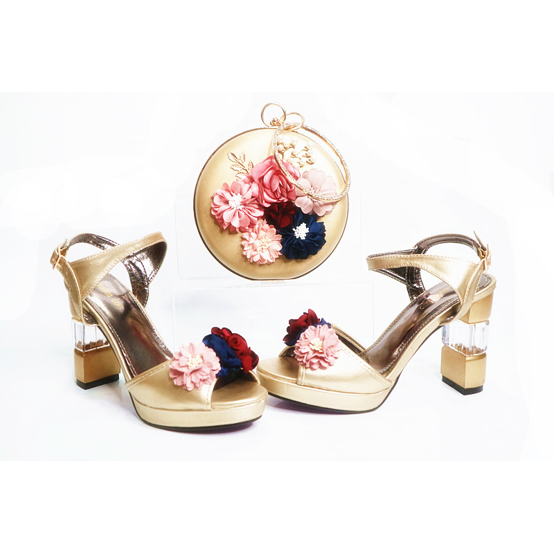 shoes and wedding bag italian Latest Gold bag shoes set bag women matching shoes party 0vvgnPY