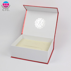 High Quality White Cardboard Paper Thick Gift Packing Box With Foam