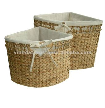 Charmant Water Hyacinth Corner Baskets