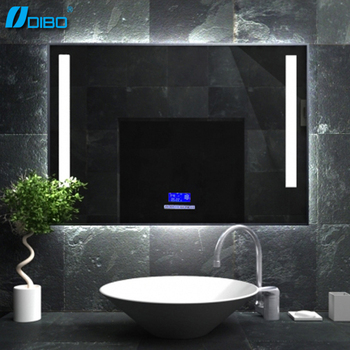 Bathroom Smart Mirror Price With Bluetooth Radio Clock Temperature
