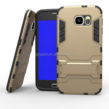 2015 New design S6 edge protect case / for samsung s6 edge kickstand case / tpu hybrid case for samsung G9250 S6 edge