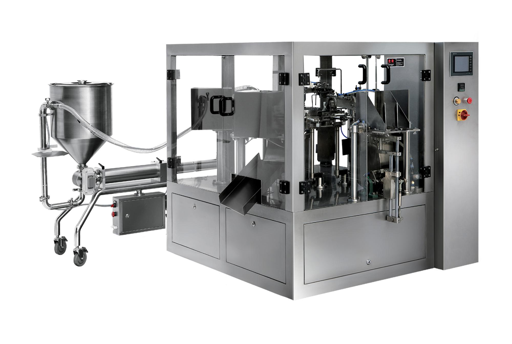 Liquid And Paste Filler For Rotary Pouch Packaging Machine