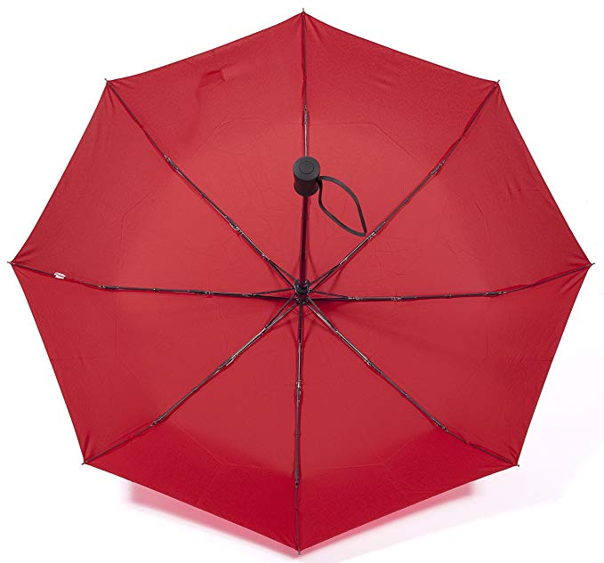 Wholesale Cheap Advertising Red Automatic Open and Close Windproof 3 Folding umbrella with Custom Logo