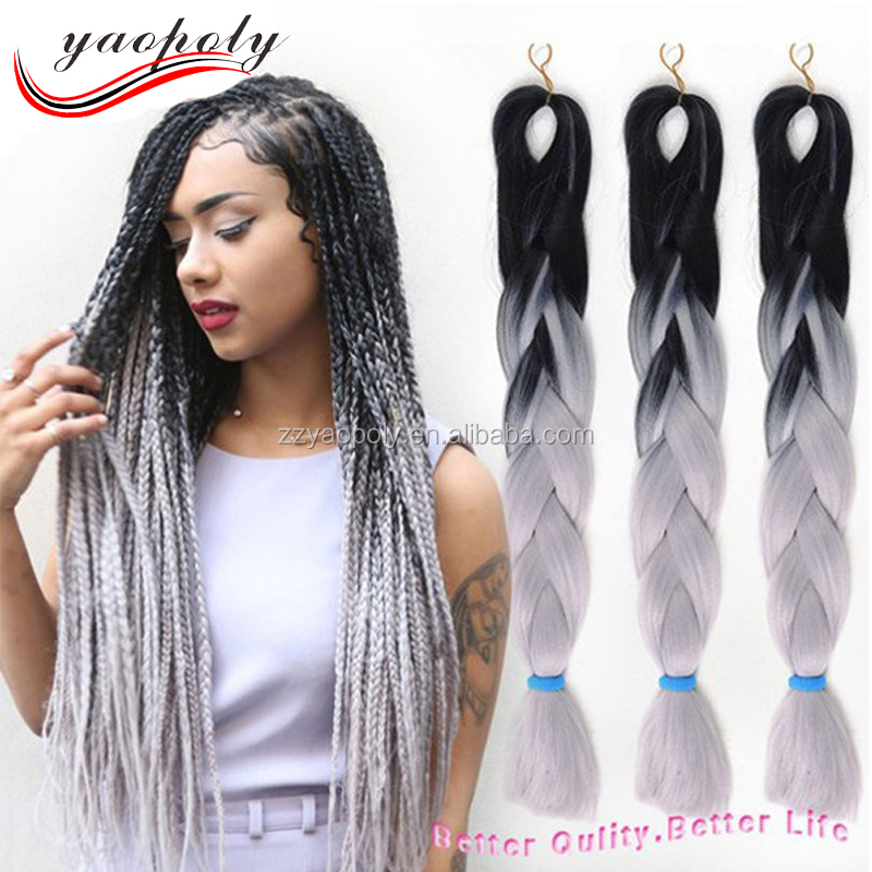 Two Colored Synthetic Braiding Hair Two Colored Synthetic Braiding