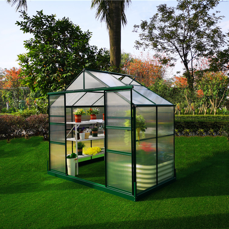 Wholesale cheap home outdoor garden plastic polycarbonate mini greenhouse