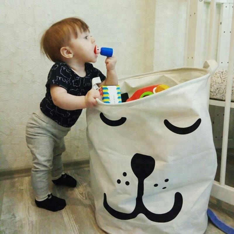 Горячая Распродажа детская корзина для хранения игрушек грязная одежда корзина для белья