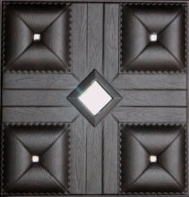 Leather look tegel/doorschijnend hars panel/hars buitenmuur decoratieve
