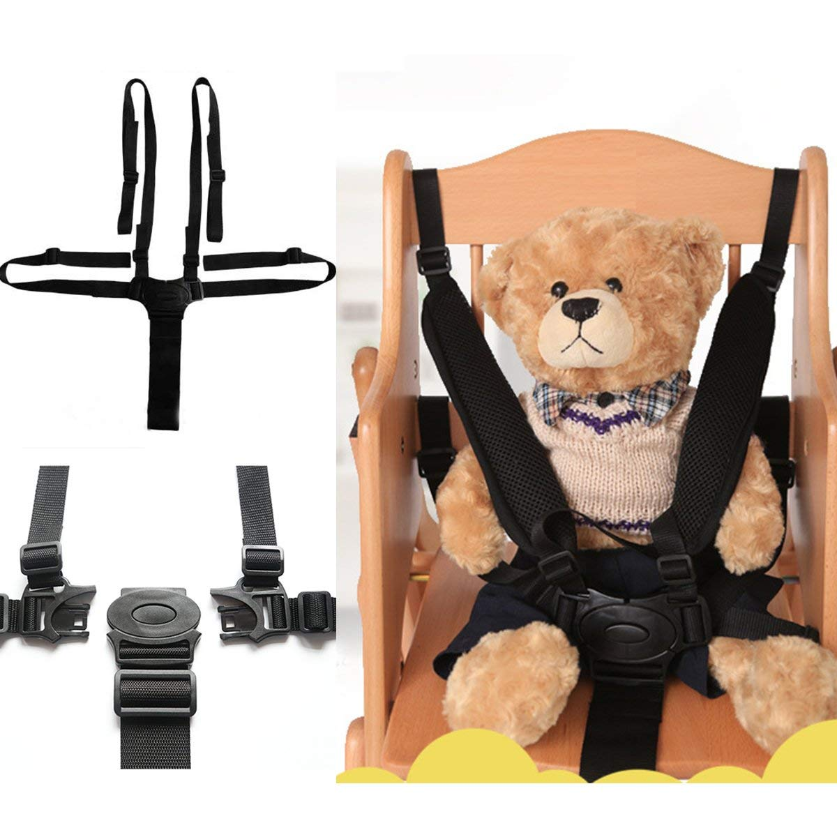 Other Tools - Portable Babies Chair Stroller Five-Point Safety Belt Harness Stroller 5 Safety Belt Stroller - Chairwoman Rein Child Refuge Chairperson Babe Guard Chairman Rule - 1PCs