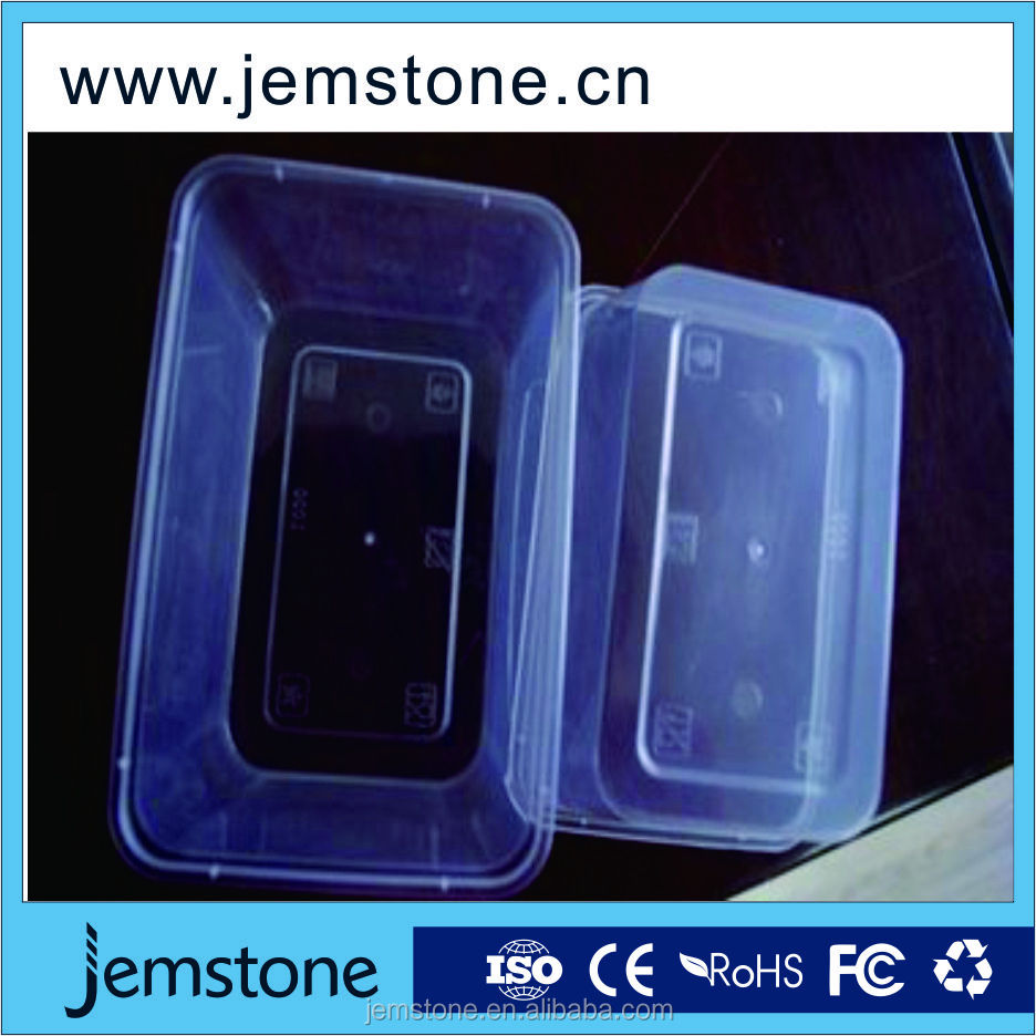 PP plastic food tray with 5 compartments