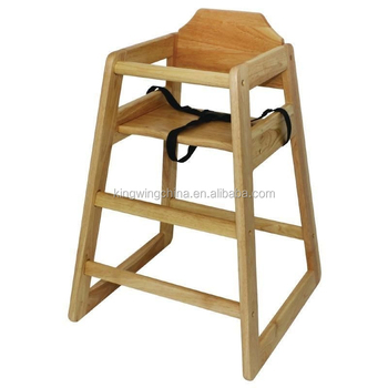 Stackable Wooden Baby Feeding High Chair