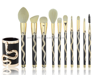 Originality S-shaped 10pcs Makeup Brush set for Makeup