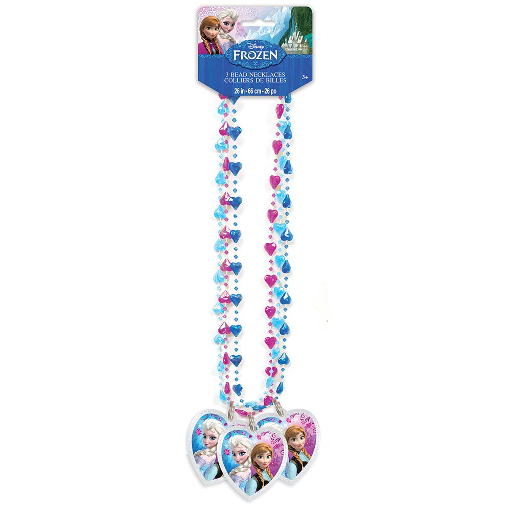 Disney Frozen Bead Necklace Party Favors, 3ct
