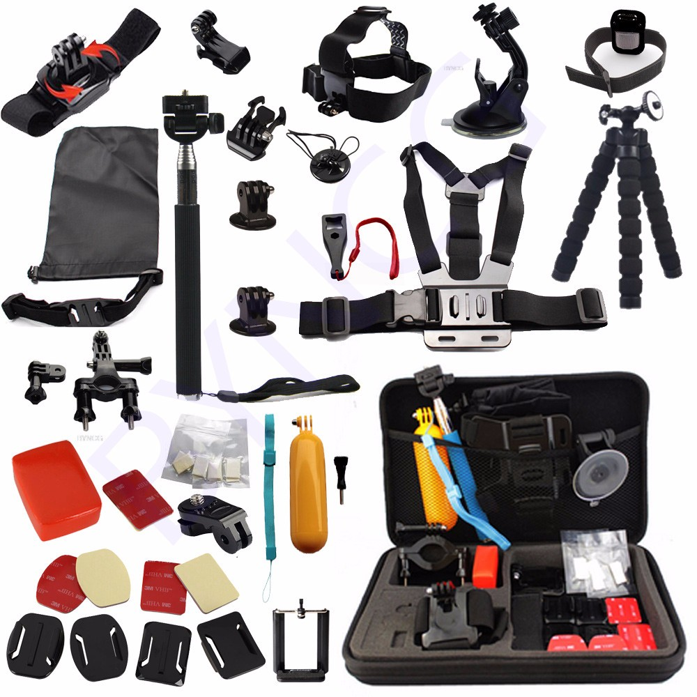 OEM gopro accessory kit gopro case Chest Belt Head Mount Strap Go pro hero3 Hero4 3 2 Black Edition set Gopro accessories kit