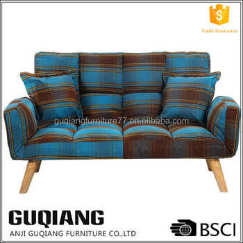 Attrayant Adjustable Tartan Fabric Sex Sofa Chair With Click Clack Sound In Different  Position