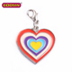 High Quality Jewelry DIY Enamel Lovely Heart Charm Pendants for mom #14951