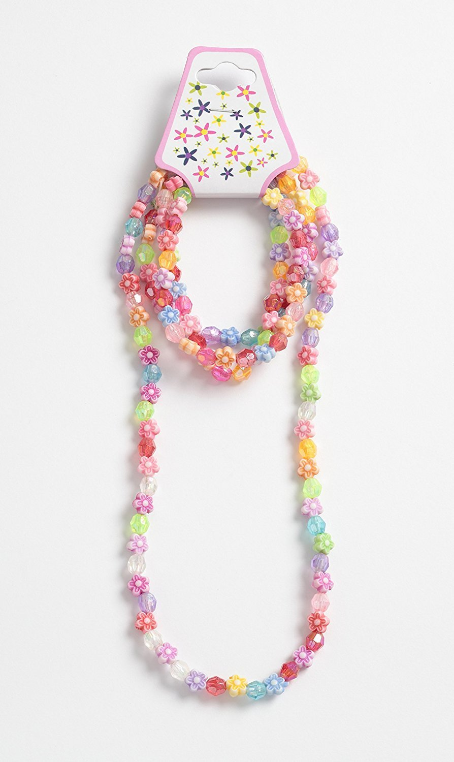 Childrens bright coloured plastic bead stretch necklace and 3 bracelets set