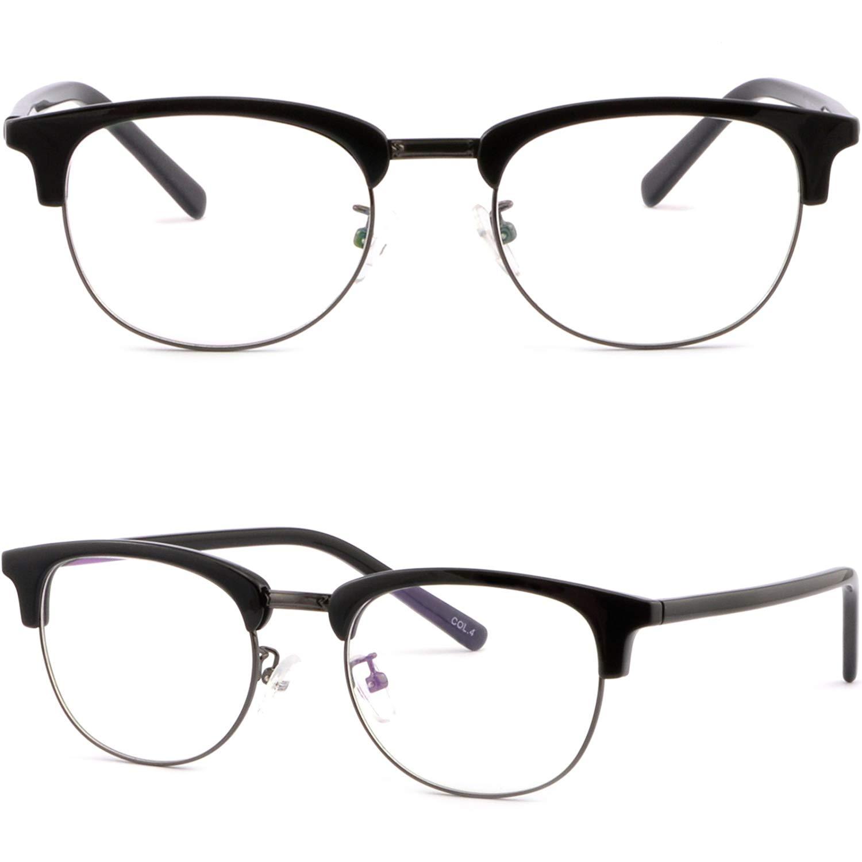 235f24945fa Get Quotations · Full Rim Womens Mens Browline Frame Prescription Glasses  Sunglasses Black