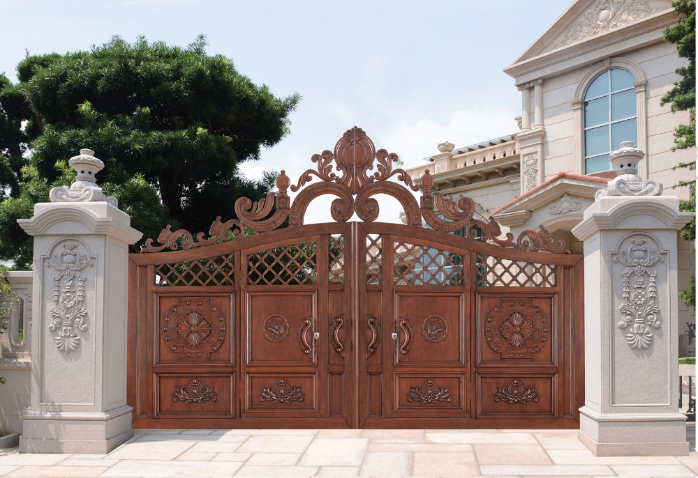 House customized aluminum gate power coated aluminium for House garden gate design