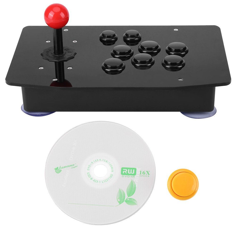 Arcade Game Controller, Zero Delay USB Classical Game Controller Arcade Joystick Handle Buttons for Arcade PC Computer